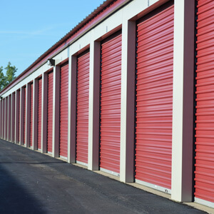 clean red storage containers